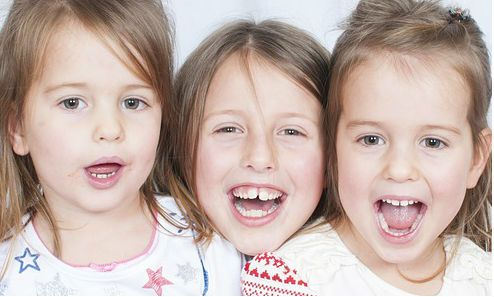 Three healthy happy girls. You can strengthen your child's immune system with homeopathy.